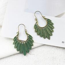 Bohemian Ethnic Leaf Tassel Drop Dangle Earrings Handmade Statement Jewelry G FT