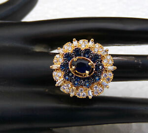 Latest Design Indian American diamante Party Wear Fashion Ring Free Size Golden