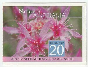 2002 STAMP BOOKLET 'NATURE OF AUSTRALIA - DESERT STAR FLOWER' - 20 x 50c MNH