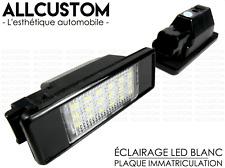 2 LED LUZ LUCES MATRICULA BLANCO POTENTE XENON para PEUGEOT 307 & CC 2001-2009