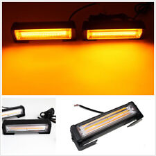 36W Amber COB LED Hazard Warning Car SUV Flash Strobe Beacon Light Bar Universal