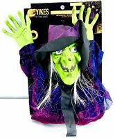 Hanging Halloween Witch With LED Eyes and Spooky Sounds Decoration 6ft