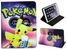 For Apple iPad Mini 1 2 3 4 Pokemon Pikachu Singer Pokeball Anime Case Cover
