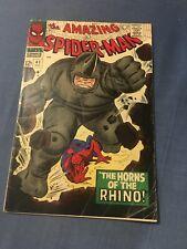 Amazing Spider-Man 41 (Marvel 1966) VG, 1st App Rhino! Silver Age Key Issue CGC?