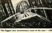 Chrome Postcard CA K369 Roller Coaster Cinerama Warner Hollywood Theatre Theater