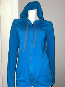 IBEX Women's Zip Up Long Sleeve Women's Size M Hooded Teal  Green