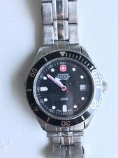 Wenger Swiss Military Watch 200m water resistant stainless steel mineral crystal