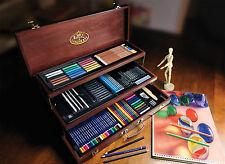 134 pezzi Premier BOZZETTI artista matita colore disegno MEDIA IN LEGNO