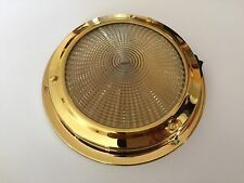 Boat Ceiling light 12V Interior Brass 140MM Base Boat Chandlery/Boat/Yacht