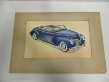 Well Done Vintage 1940 Mercury Merc Automobile Artist Paint Rendering (A40)