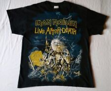 """Vintage Iron Maiden 1985 """"Live After Death"""" Double Sided T-Shirt Size Large"""