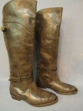 FRYE Dorado Brown Leather Pull On Over The Knee Tall Boots Size 9 M