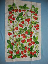 Dish Towel:  Strawberry Design 16 x 28 by Marge French