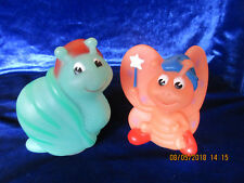 Vtg-Hasbro-Playskool Glo-Bug-Glow-Worm-Friend Figure Fakie Lot Butterfly Snail