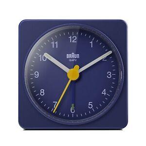 Braun Classic Travel Analogue Clock, Compact Size Quartz BC02BL