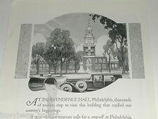 1924 Texaco advertisement, gasoline, motor oil, Independence Hall