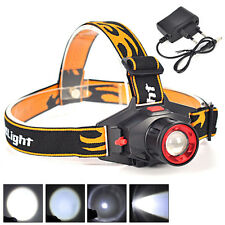 Rechargeable 1800Lm LED Headlamp Zoomable Headlight 3 Mode flashlight head Torch