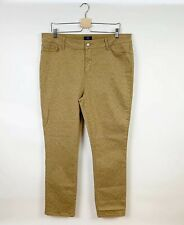 Not Your Daughters Jeans Womens Leopard Skinny Jeans Tan Size 16