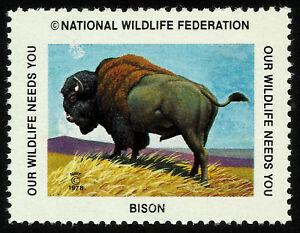BISON, NATIONAL WILDLIFE FEDERATION CINDERELLA 1978, MNH