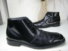 PACO LIUFAU MENS 45/12 BLACK LEATHER LACED ANKLE BOOTS