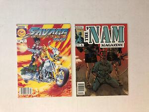 Marvel Savage Tales #1 KEY 1st Nam Story PLUS... The 'Nam #8 See Scans VF+/NM