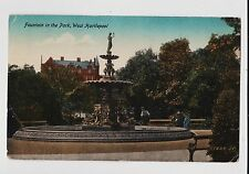 West Hartlepool,U.K.Fountain in the Park,County Durham,Used,1921
