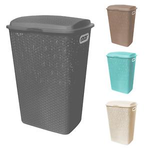 Rattan Laundry Hamper Basket 54L Clothes Washing Storage Washing Clothes