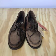 NWT Quoddy Brown Leather Moc Boat Shoes Men's 9 D