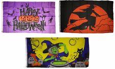 3x5 Happy Halloween 3 Pack Flag Wholesale Set #128 Combo 3'x5' Banner Grommets