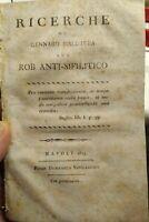 1813 MALDACEA DA MASSA LUBRENSE MALATTIE VENEREE ERBORISTERIA ROB ANTISIFILITICO