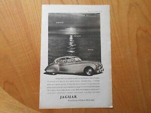Vintage Jaguar Advert -- Original -- from 1952