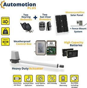 Single Swing Solar ☀️ Power Farm Gate Opener Automatic Motor Remote Control Kit