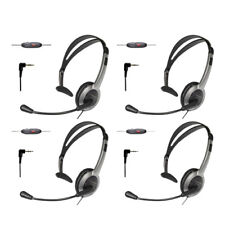 KX-TCA430 for Uniden Phones (4-Pack) Foldable Over the Head Headset