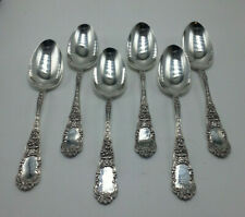 6 Antique Dominick & Haff Sterling Silver 1891 CUPID Place Dessert Soup Spoons