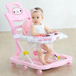4 IN 1 Adjustable Baby Walker Stroller Activity Music Kids Ride On Toy 6-18month
