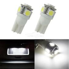 2 x 168 194 2825 Cool White 5 SMD LED Bulbs For License Plate Lights