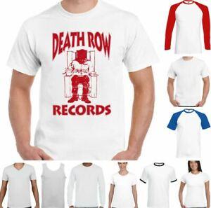 Death Row Records T-Shirt Hip Hop Dr. Dre Tupac 2Pac Shakur Snoop Dogg Top