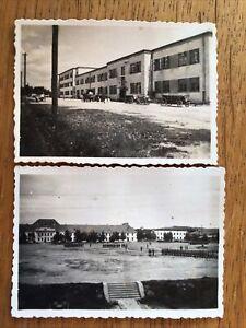 Wehrmacht Polen Kaserne 2 Original Fotos beschrieben 1940