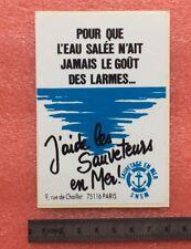Autocollant SNSM SAUVETAGE EN MER Marin Marine Bateau Vintage Sticker ans 70/80