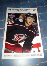 2017-18 Alex Wennberg Columbus Blue Jackets Game Day Match Up Poster 01/18/2018
