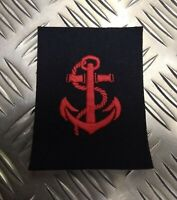 Genuine Vintage British Royal Navy LEADING RATE / ANCHOR Red Arm Badge - NEW
