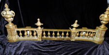 Margaret O'Brien Owned Antique French Chenet Set Fender Andirons