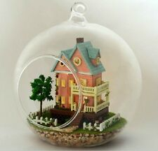 DIY LED LIGHT crystalball glass ball  mini series Dollhouse mini house kit