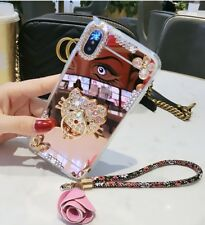 Luxury Bling Diamonds Ring Stand Mirror Strap Case Cover for iPhone XS Max XR 8+