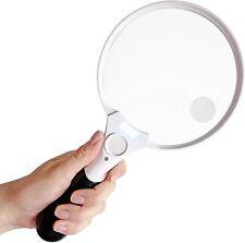 Extra große LED Handlupe mit Licht 25x Fach Vergrößerung Beleuchtete Leselupe FT