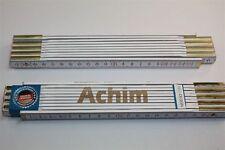 Zollstock mit Namen     ACHIM    Lasergravur 2 Meter Handwerkerqualität