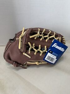 "FRANKLIN fielding PRO-tanned 12""genuine LEATHER BASEBALL GLOVE RH THROW xcomfort"
