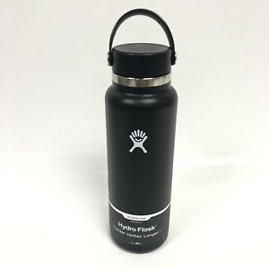 40 oz Hydro Flask Black Wide Mouth Bottle New Double Wall Vacuum BPA Free
