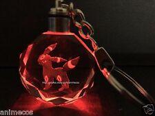 Pokemon Umbreon Crystal Key Chain LED Pendant Key Ring Pendant New in Gift Box