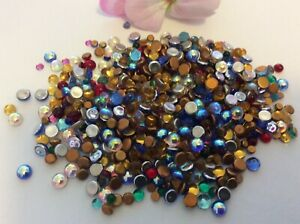 Vintage Glass Cabs Mixed colour Round Flatback 3-5mm Pk of 30 CRAFT Post Free